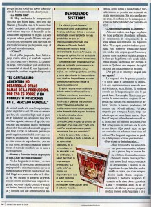 Entrevista a Eduardo Sartelli en Revista Veintitrés 2