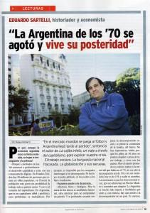 Entrevista a Eduardo Sartelli en Revista Veintitrés
