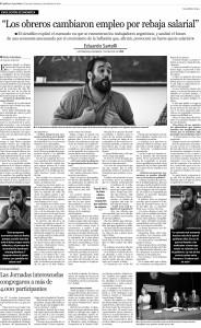 Eduardo Sartelli en Diario Tucumán