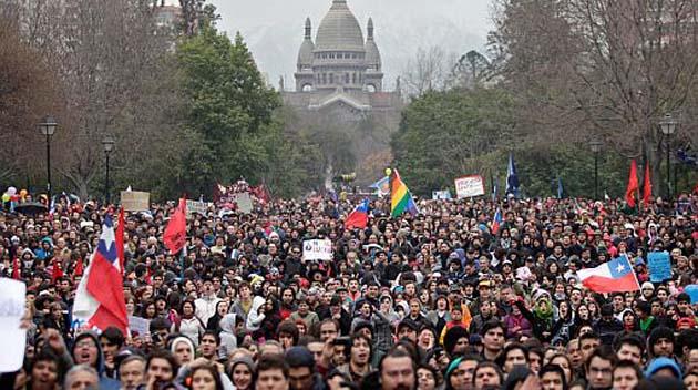 Resultado de imagen para marchas chile