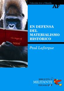 Portada En defensa del materialismo