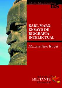 Portada Karl Marx Ensayo de biograría intelectual