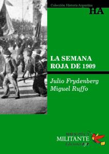 Portada La Semana Roja de 1909