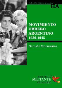 Portada Movimiento obrero argentino 1930-1945